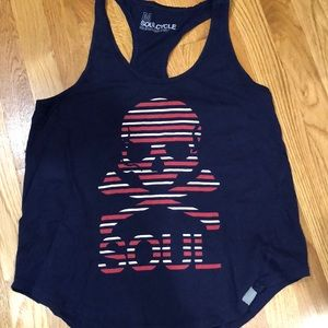 SoulCycle tank w skull size medium